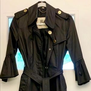 Burberry Ruffle Sleeve Trench